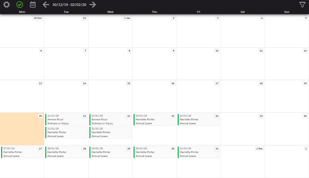 Isimio Scheduler: Holidays